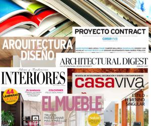 Principales cabeceras de revistas de decoración del plan de Medios de Uecko